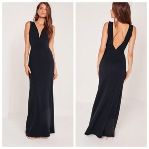 Missguided Deep V Maxi Dress/Gown